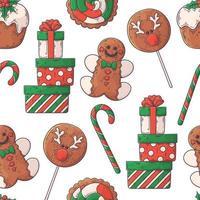Hand drawn Christmas pattern Vector. vector