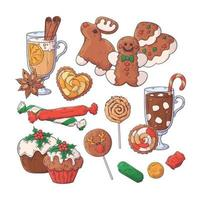 Hand drawn Christmas elements collection Vector. vector