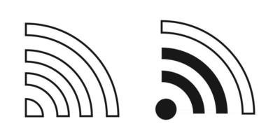 Wi-Fi Internet icon vector hotspot signal sign