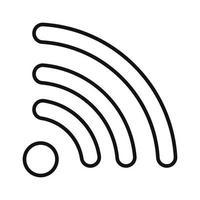 Wi-Fi internet signal black icon vector