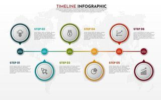 Infographic Timeline Template design vector