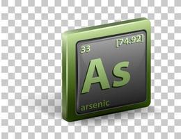 Arsenic chemical element vector