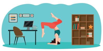 Yoga in the office. vector