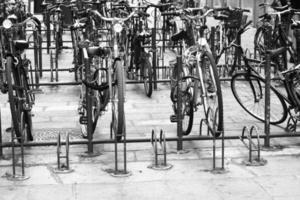 Vintage Bike parked in bologna photo