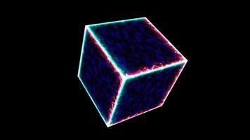 kraftfull magisk isflammefusion och violett kraft mysterium energi yta video