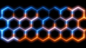 Sechskant- und rotblauer Laser- und Digitalschlossschutz, Drahtenergiemuster-Wandschutz video