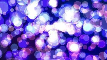 tono viola scuro bolla di luce dimensione divina bokeh sfocatura absract sfondo scuro dello schermo video