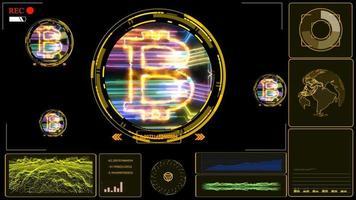 övervaka digital grafradar upptäckt för att mäta energin hos en bitcoin gruvarbetare för att analysera behandlingen video