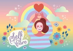 love your self care  your self concept vector