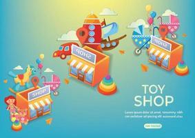 kid shop toy shop onlines shop kid stuff vector