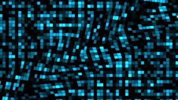 futuristisk abstrakt teknik visualisering blå ton våg digital yta bakgrund video