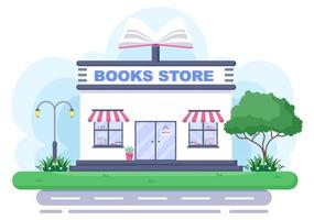 Bookstore Vector Illustration is A Place To Buy Books or Place Read