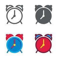 reloj despertador diseñado conjunto de iconos. ilustración vectorial. vector