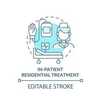 In patient residential treatment concept icon vector