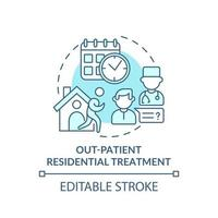 Out patient residential treatment concept icon vector