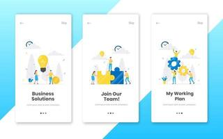 3 vertical business concept banners set with work time planning vector