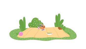 manta de picnic 2d vector web banner