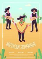 Mexican serenade flat vector template