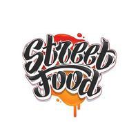 Street Food Graffiti Vector Lettering