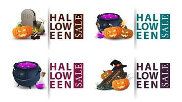 best offer, vector collection of bright halloween discount bubble tags, banners and stickers