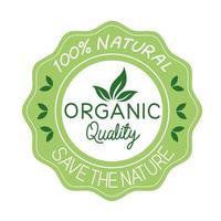 organic quality label vector