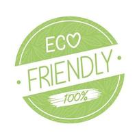 Eco friendly seal stamp vector