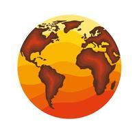 earth planet orange vector