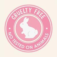 sello de sello libre de crueldad vector
