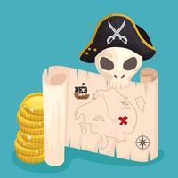 treasure pirate scenic vector