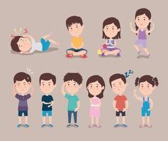 ten signs of autism vector