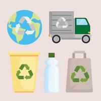 reciclar el conjunto de iconos vector