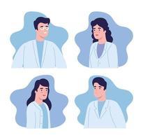 scientist people set vector