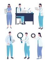 doctors with symbols vector