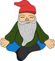 cute meditating gnomes perfect for design project vector