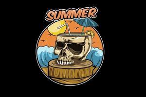 4. skull summer vector