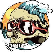 5. summer skull  illustration vector