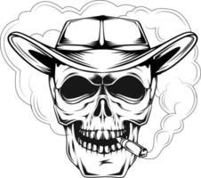 8. skull smoking vector