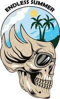 29. endless summer hand drawn skull vector