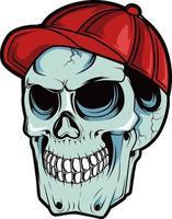 23. skull hand drawn illustration vector