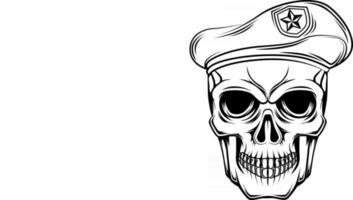 4. skull soldier vector