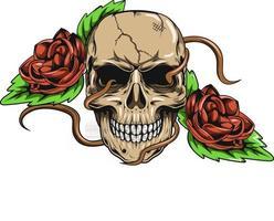 20. skull flowers vector