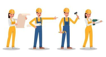 Construction Worker character vector design no11