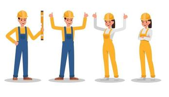 Construction Worker character vector design no7