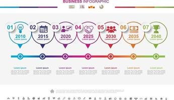 Timeline infographics business success concept with graph. No3 vector