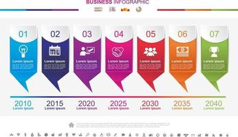Timeline infographics business success concept with graph. No12 vector
