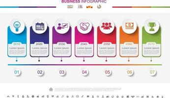 Timeline infographics business success concept with graph. No13 vector