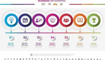 Timeline infographics business success concept with graph. No11 vector