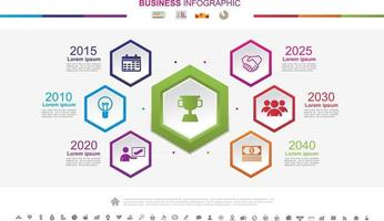 Timeline infographics business success concept with graph. No10 vector