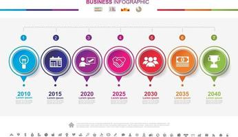 Timeline infographics business success concept with graph. No2 vector