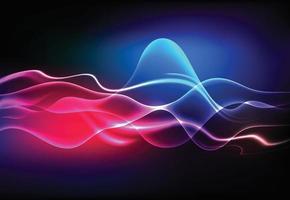 Modern speaking sound waves oscillating dark blue light, Abstract technology background. Vector illustration